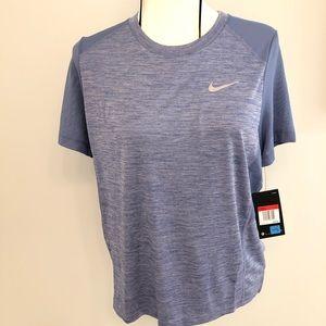 Nike running shirt Top Large Blue mesh